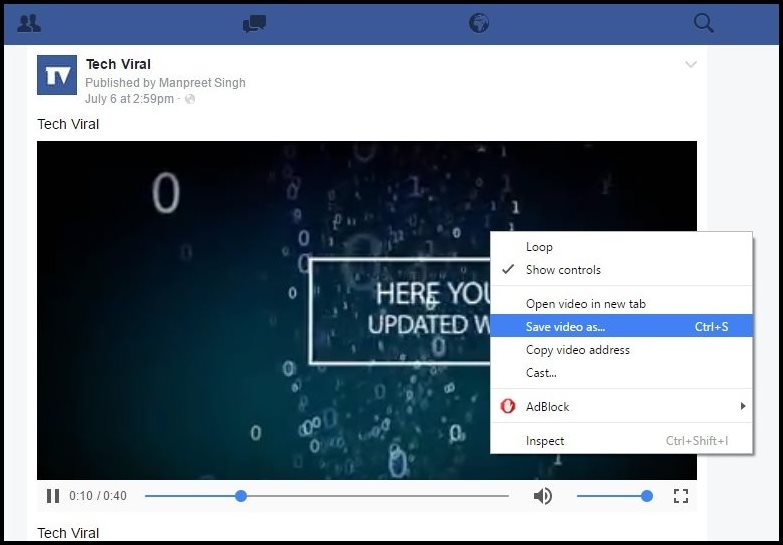 Download Facebook Videos Without Any Tool