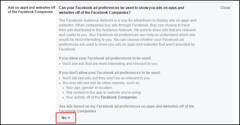 Facebook Ads Settings