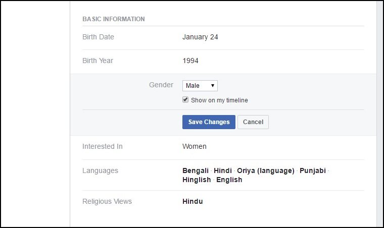 You Cannot Make Your Gender And Cover Photos Private