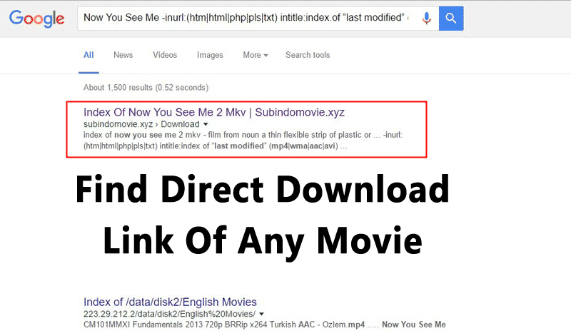 How to Find Direct Download Link Of Any Movie 2019