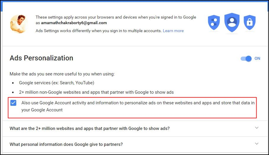 Google Advertisement Settings