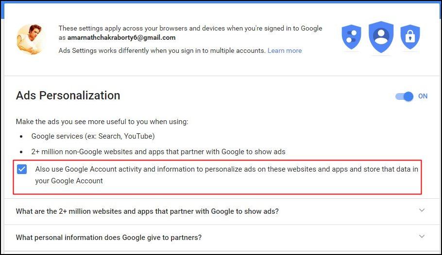 Google Advertisement Settings