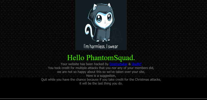 Hacking Group SkidNP Hack PhantomSquad Website As Christmas Gift