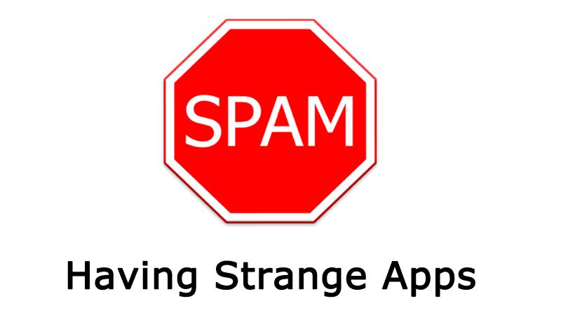 Having strange apps