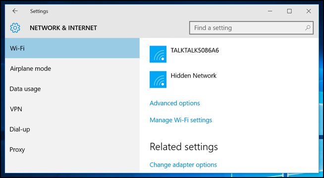 Control The Data Usage In Windows 10