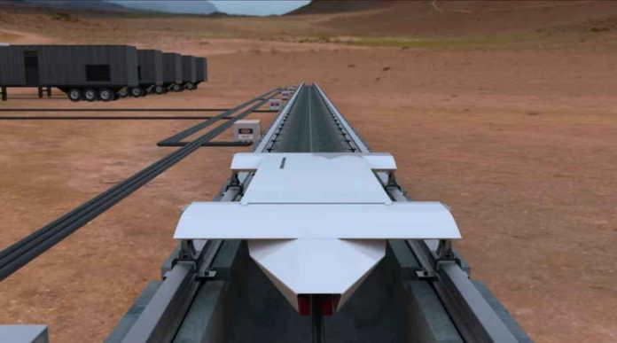 Hyperloop Super-Fast Transport Vehicle