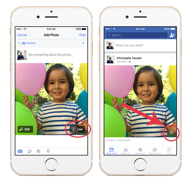 Live Photos 2 - How To Post Live Photos On Facebook from iPhone 6S