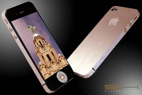 Most Expensive Smartphones- Diamond Rose iPhone 4 32GB