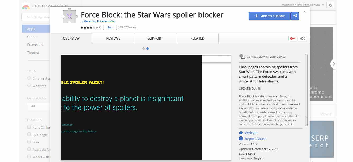 Reddit Moderators Banning Spoilers of Star Wars With Chrome Extension