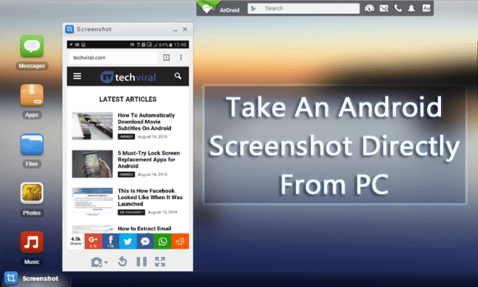 How to Take An Android Phone Screenshot Directly From PC