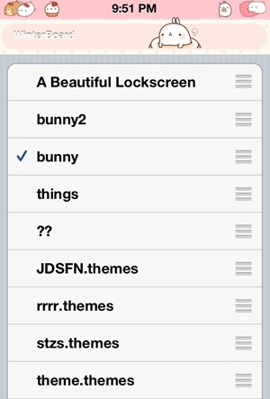 Themes on iPhone