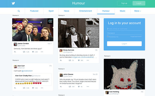 Twitter All New Homepage Live in The UK