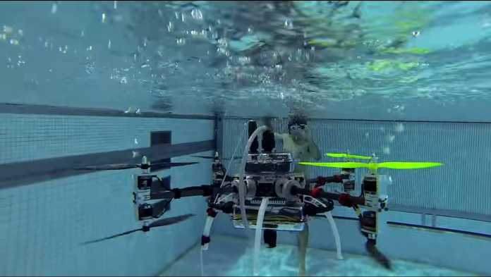 US Navy Drone Transitions From Air To Water And Water To Air
