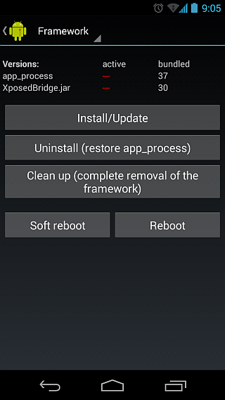 Installing Xposed Installer Directly From Apk