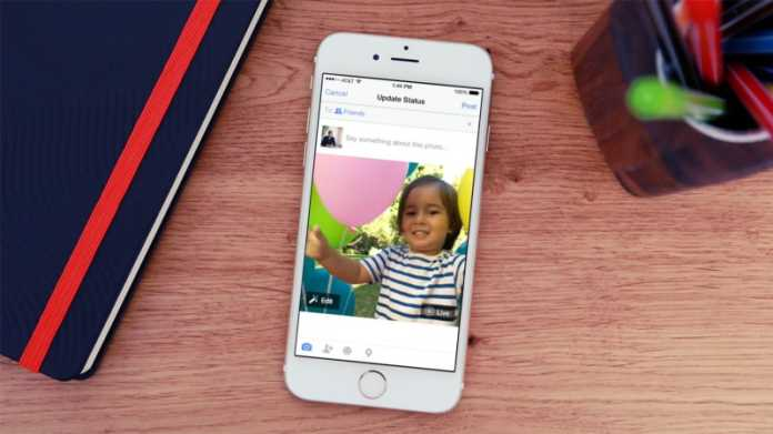 How To Post Live Photos On Facebook from iPhone 6S