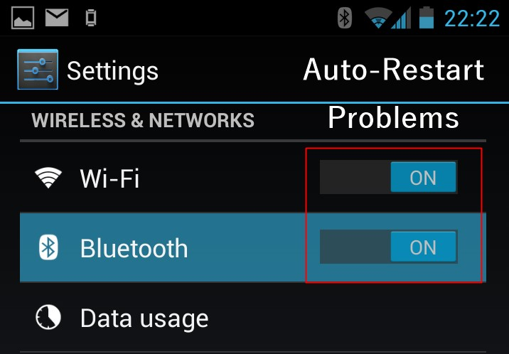 Frequent restart of your Wifi, Bluetooth