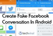 Create Fake Facebook Conversation In Android