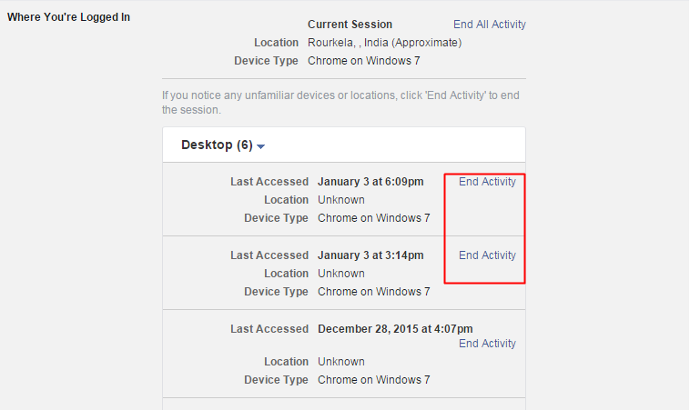 Disconnect Previous Active Sessions