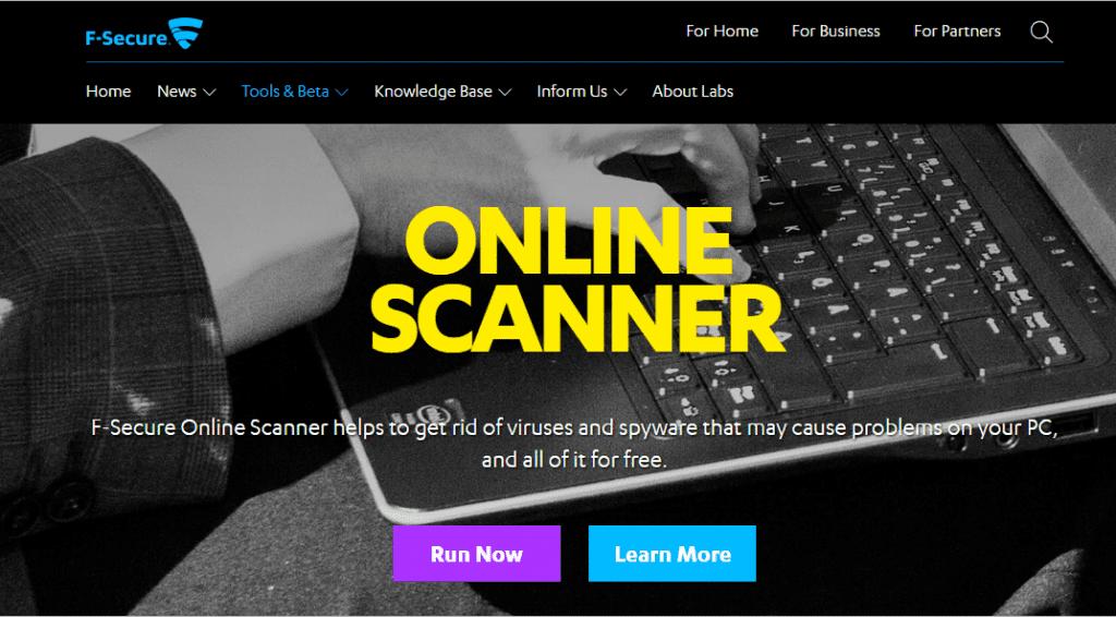 F-Secure Online Scanner