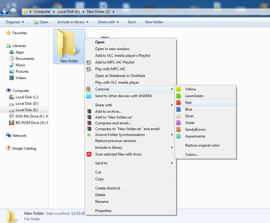 Change the Colour of a Folder In Windows