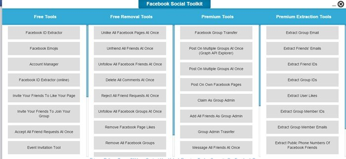 Get Social Media Toolkit For Facebook Premium For Free