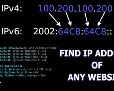 how to get ip address of website