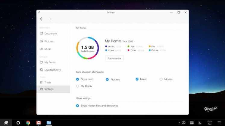 Sistema operativo Android Remix multi-finestra