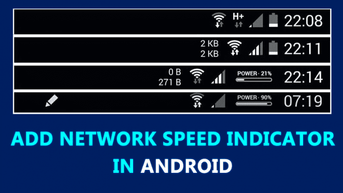 How To Add Network Speed indicator In Android Status Bar