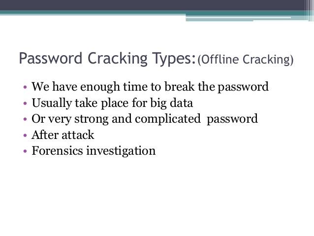 strategies for password cracking Poster: the art of password creation blase ur,  policy compliance strategies  measuring password strength by simulating password-cracking.