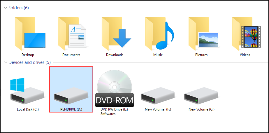 how to fix flash drive using cmd