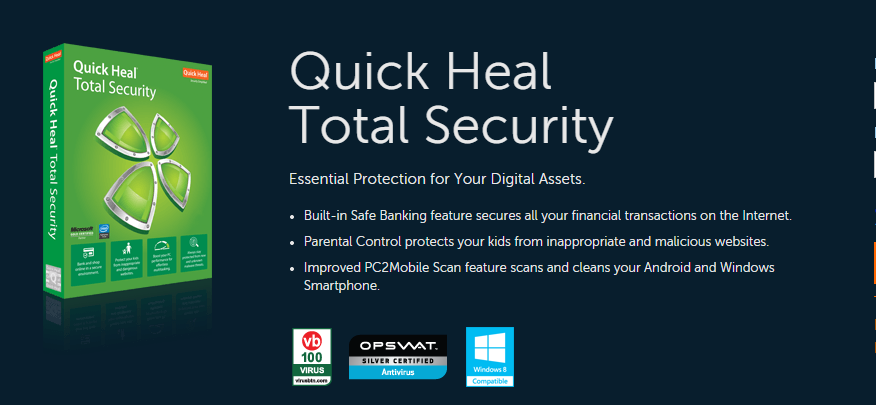 serial key for quick heal total security 2016