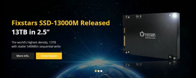 The World's First large-capacity 13TB SSD-13000M