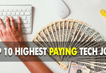 Top 10 Highest Paying Tech Jobs