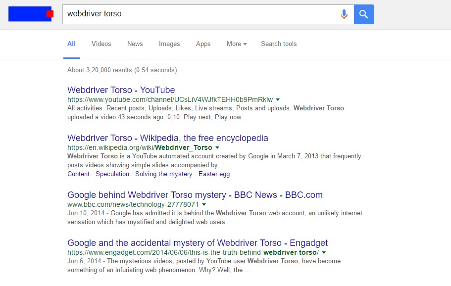 "Type ""Webdriver torso"" in Google"