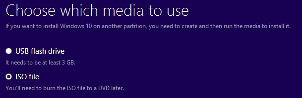 Create an installation media