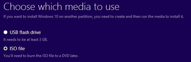 Create an installation media