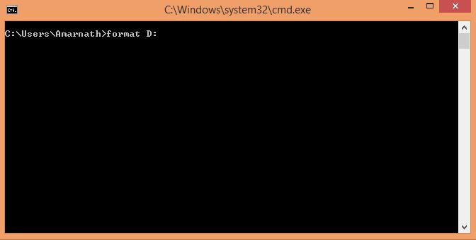 Format Pendrive Using CMD