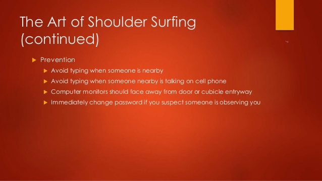 Shoulder Surfing