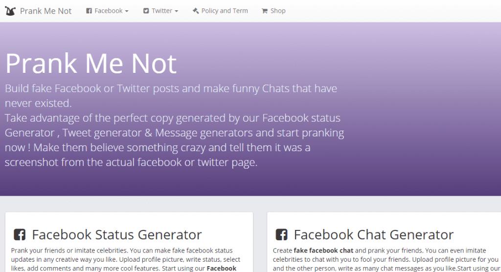 Creating Fake Facebook Conversation Online