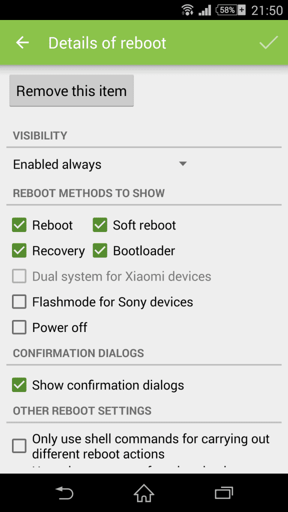 """Customize Android's """"Power Off"""" Menu With More Options"""