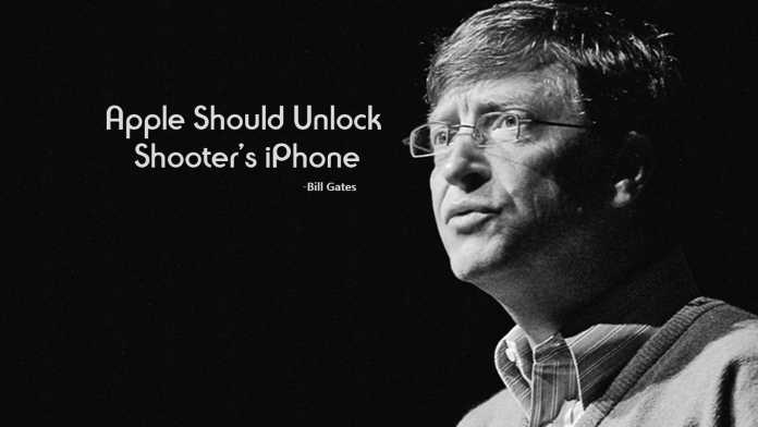Bill Gates Supports FBI, says Apple Should Unlock Shooter's iPhone