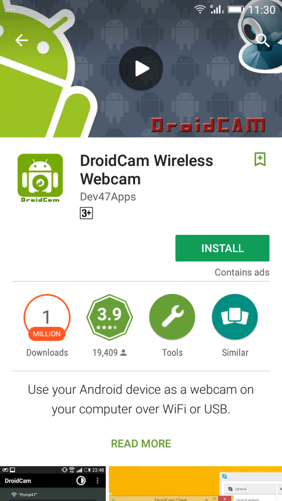 Android Camera as Webcam through USB