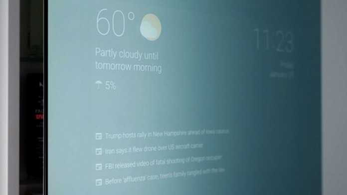 Google Engineer builds Smart Android Powered Bathroom Mirror