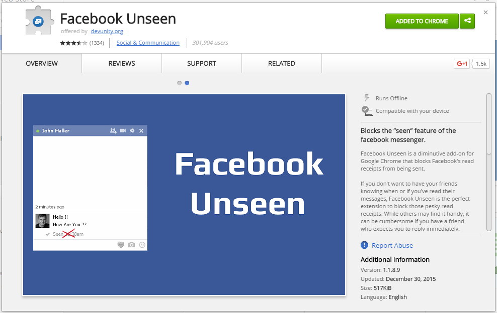 Hide Last Seen From Facebook Chat And Messages