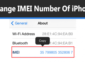Change IMEI Number Of iPhone