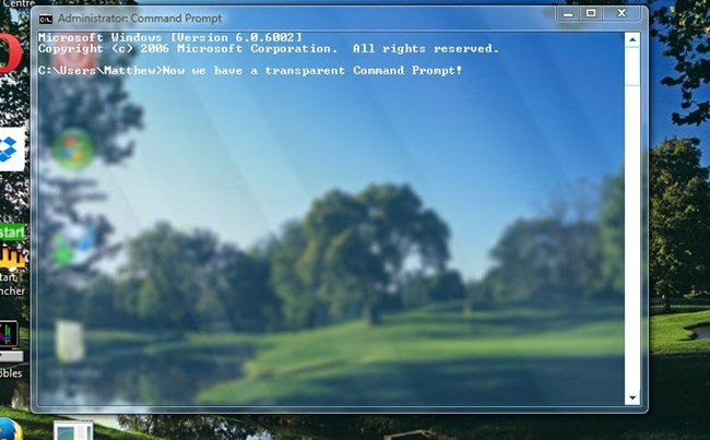 Make Command Prompt Transparent in Windows 10