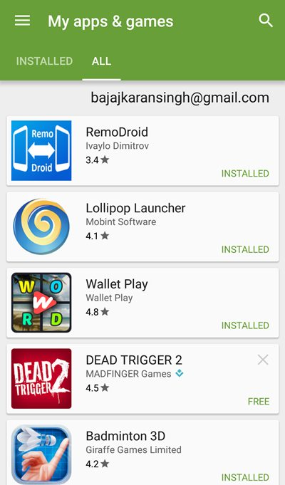how to delete android devices from google play store