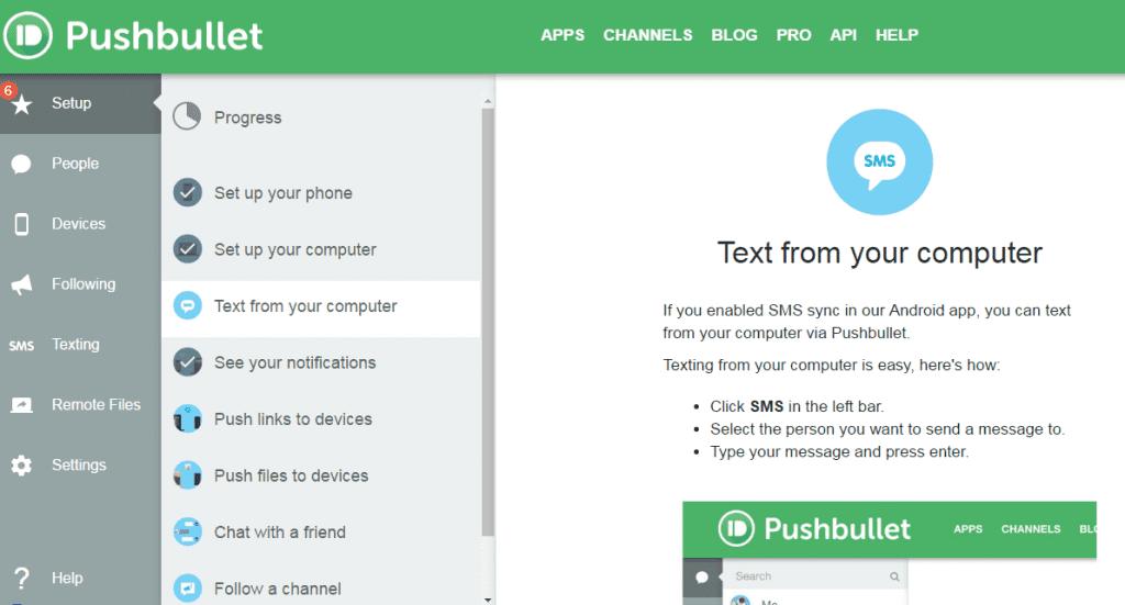 Using Pushbullet