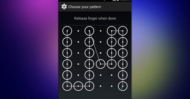 Secure Lockscreen Pattern On Android