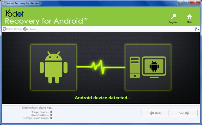 Install Yodot Recovery for Android on PC & Connect your smartphone to the PC